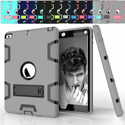 For iPad 6th 9.7'' 2018 Shockproof Military Stand Heavy Duty Case Cover