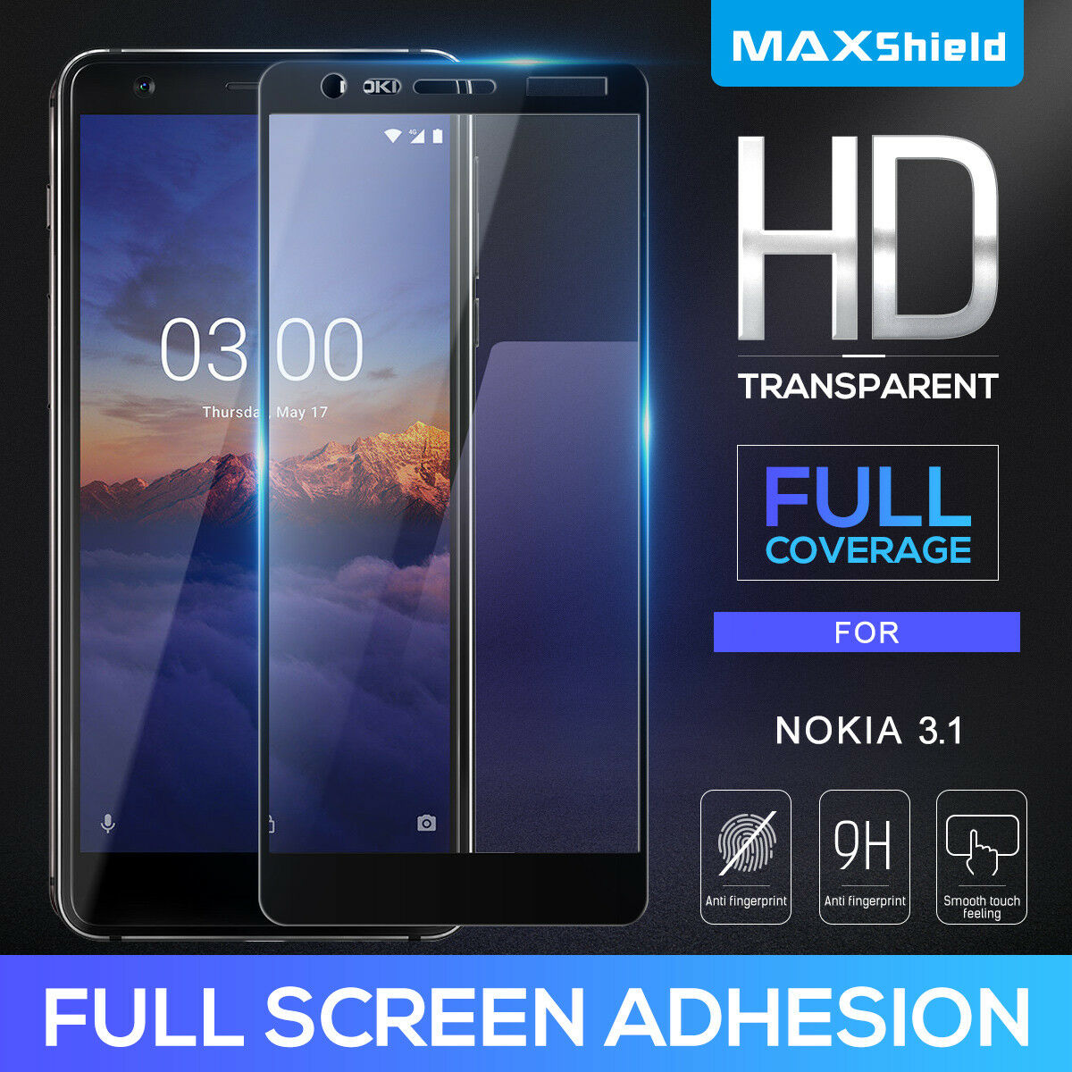 For Nokia 3.2 Full Coverage Tempered Glass Screen Protector