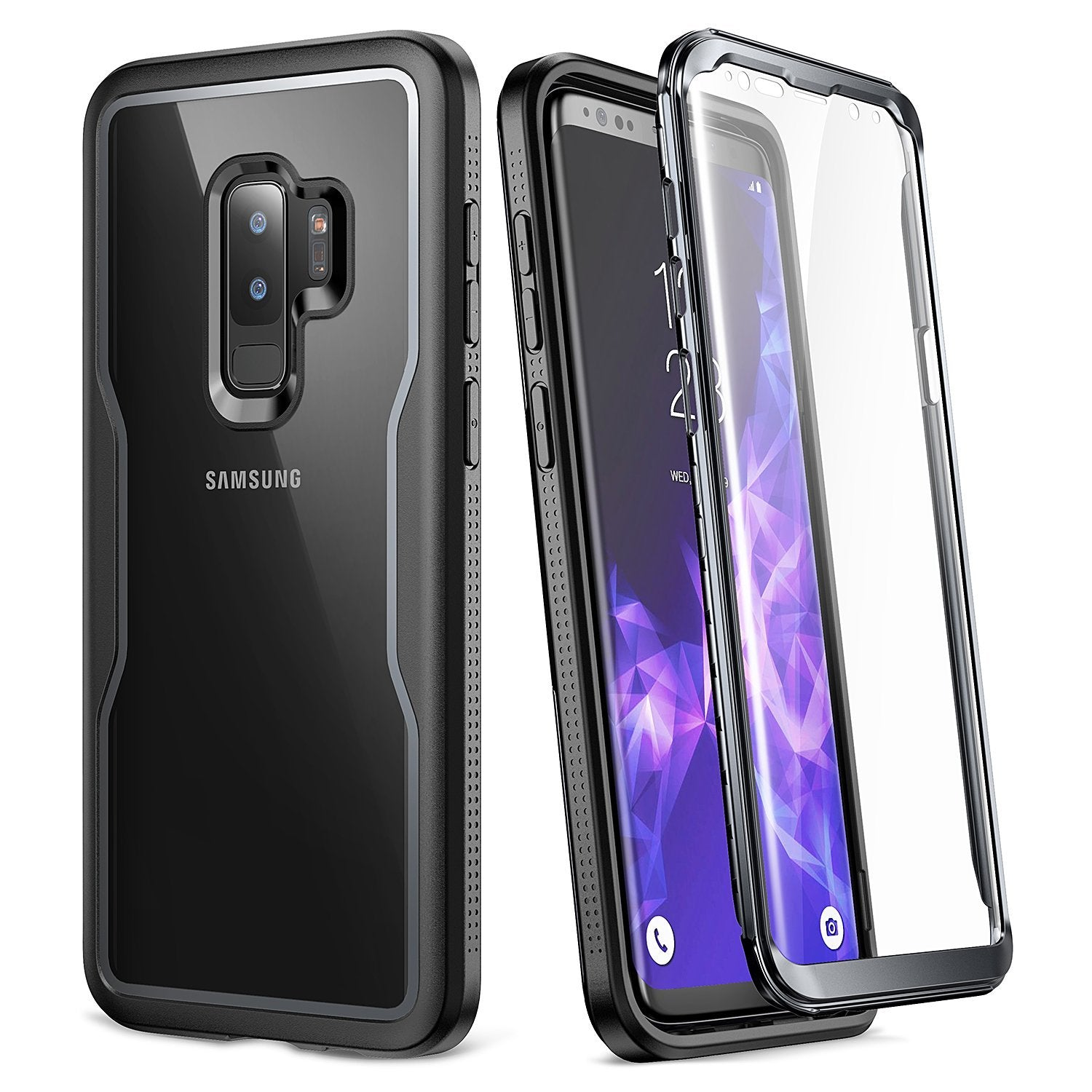YOUMAKER Samsung Galaxy S9 Crystal Clear Shockproof Full-body Case Cover