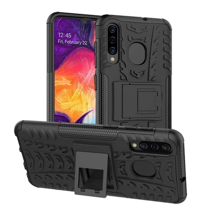 Samsung Galaxy A70 Heavy Duty Tough Shockproof Strong Rugged Anti-Knock Kids Protective Case Cover (Black)