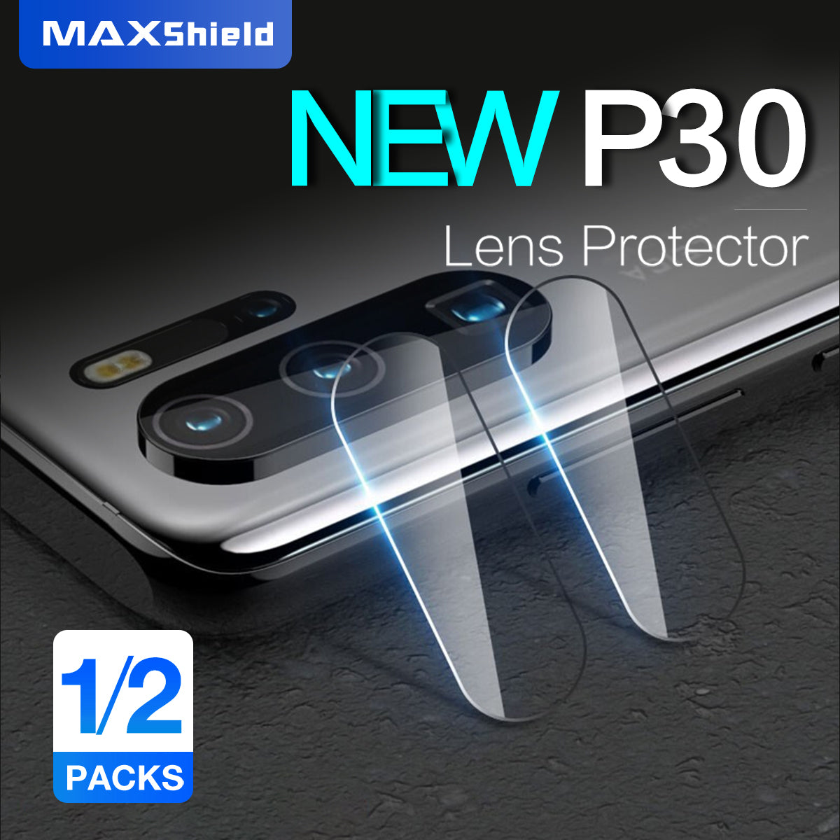 Maxshield 9H Back Camera Tempered Glass Screen Protector for HUAWEI P30