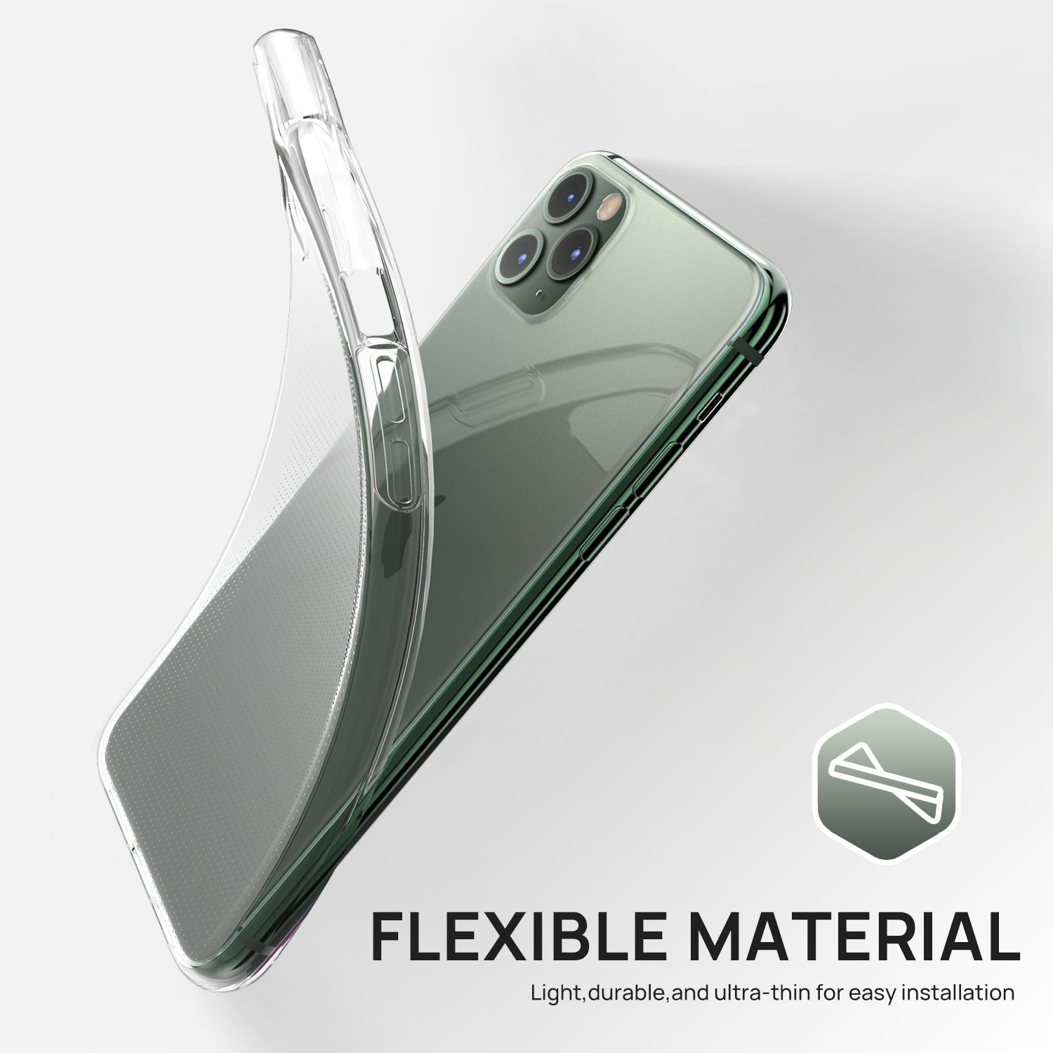 iPhone 11 Case MAXSHIELD Premium Soft Crystal Clear Cover for Apple