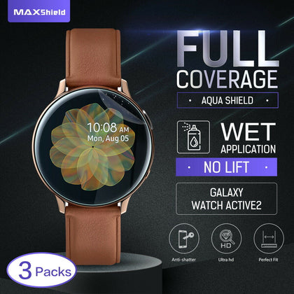 Maxsheld Samsung Galaxy Watch Active 2 40mm Full Coverage Waterproof Screen Protector