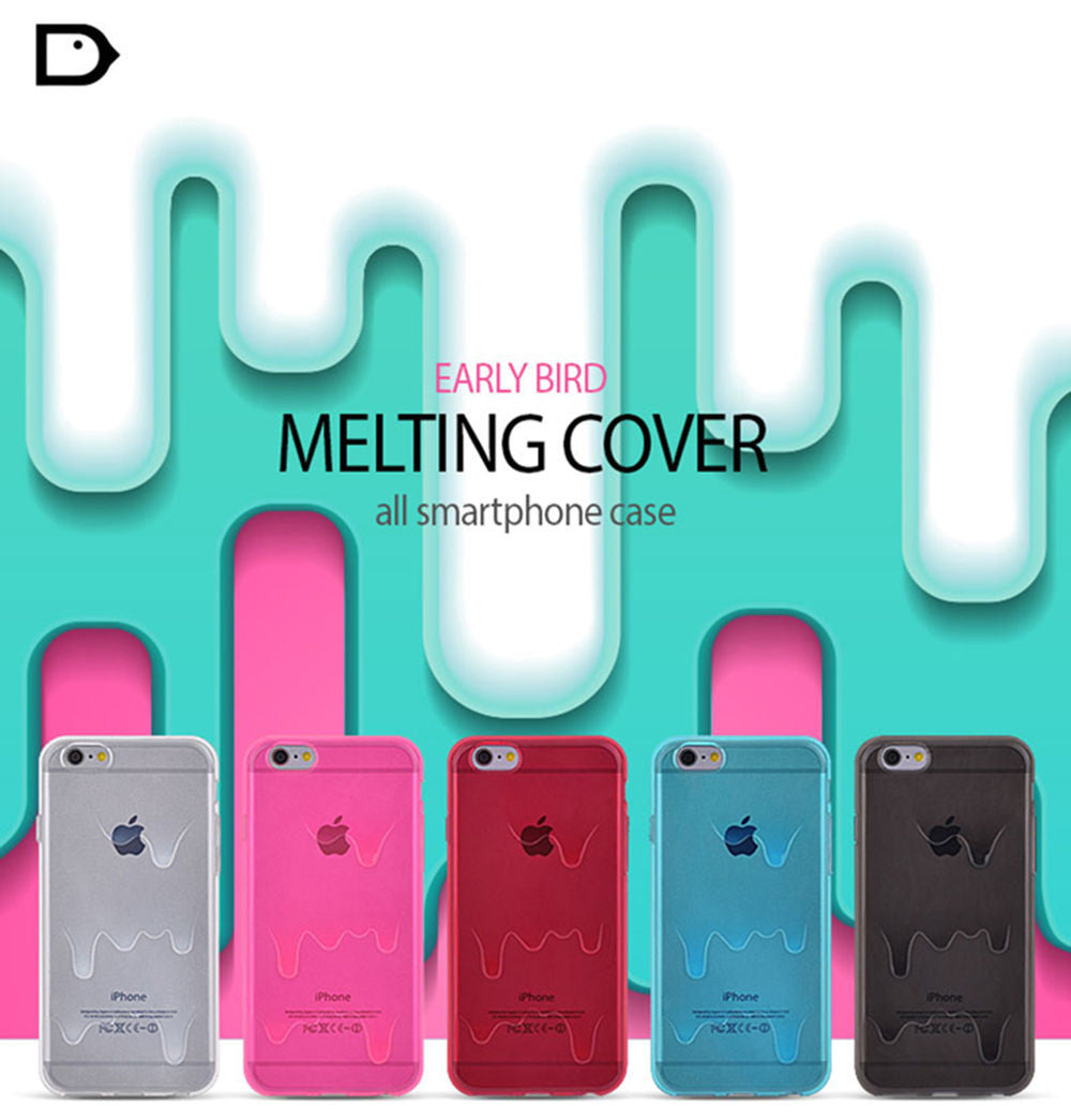 Melt Ice Cream Rubber TPU Skin Case Cover for iPhone 6/6s, 6/6s Plus
