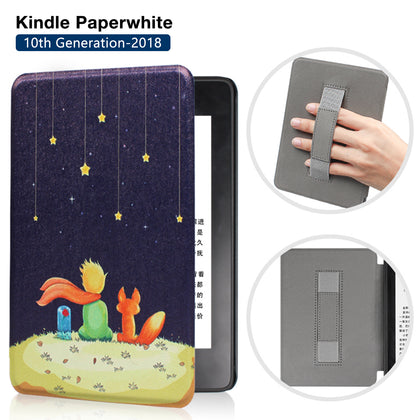 Premium Quality Colorful Painting Leather Cover for Amazon Kindle Paperwhite 10th Generation-2018 with Hand Strap-Little Prince