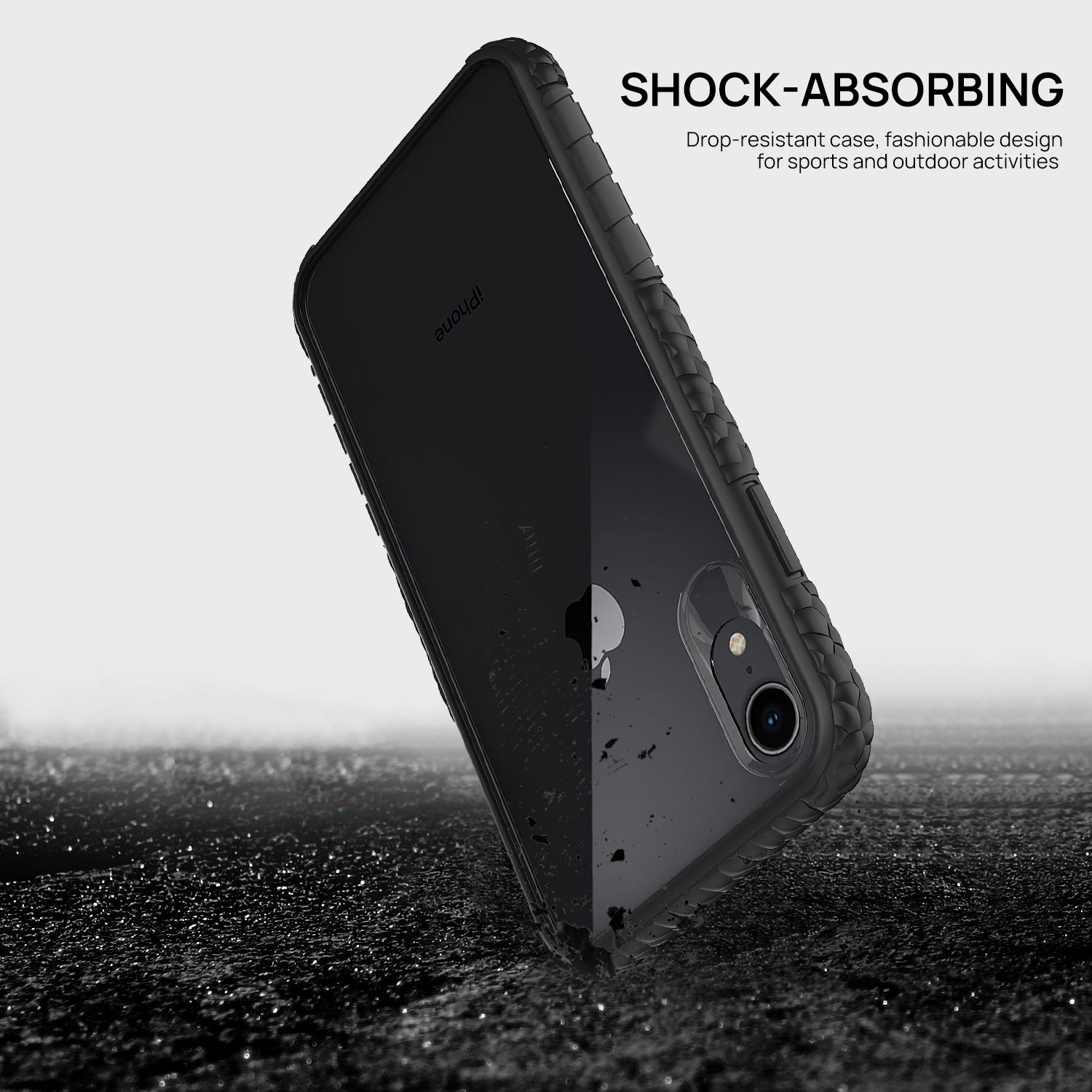 iPhone 8 Case, Heavy Duty Shockproof Slim Clear Protection Cover