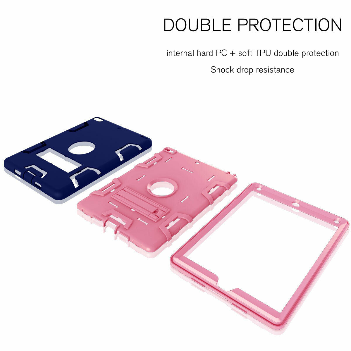 For iPad 7th 10.2'' 2019 Shockproof Military Stand Heavy Duty Case Cover