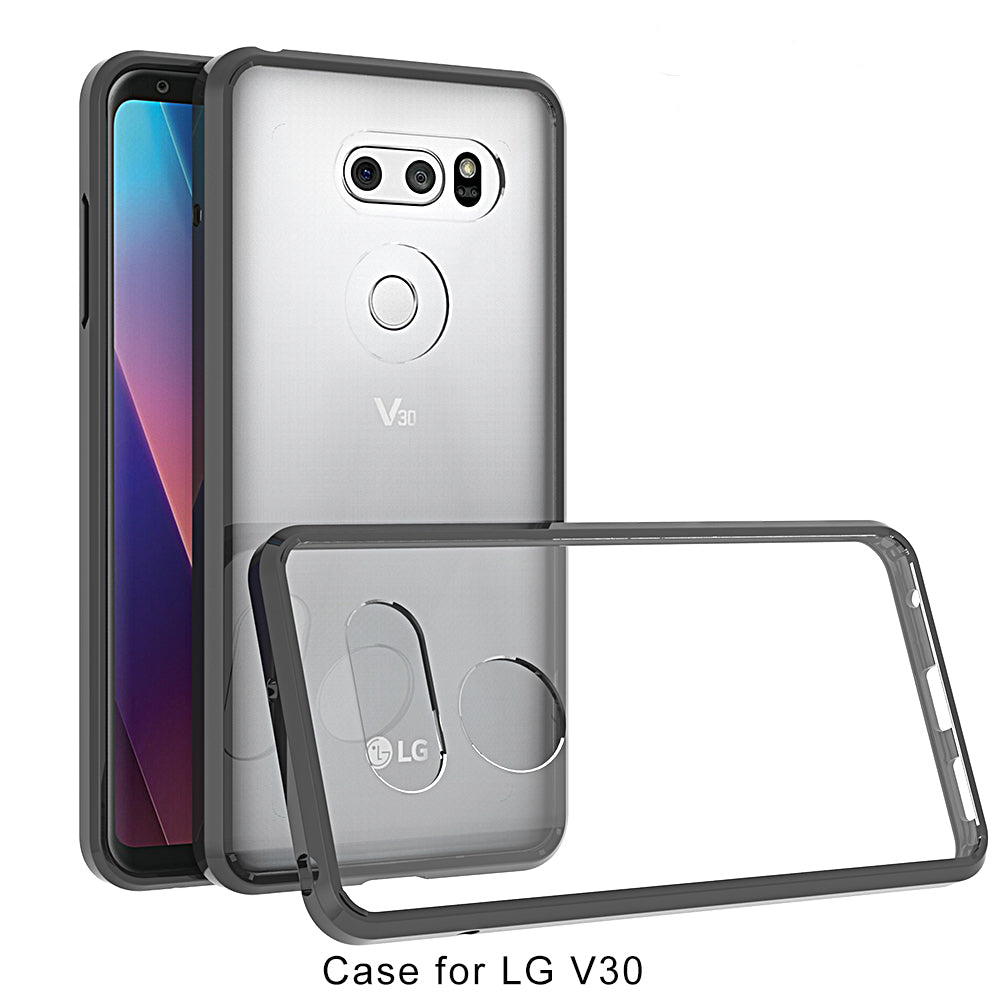 promo code be595 8c4b9 LG V30+ Case Cover, Slim Shock Absorbing TPU Crystal Clear Bumper ...