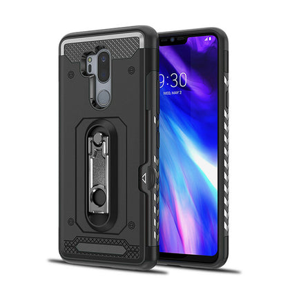 For LG G7 Case Hybrid TPU Heavy Duty Card Slot Stand Shockproof Cover