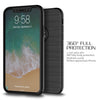 iPhone 8 Plus Thin Shockproof Full Body Soft Case Cover Wth Tempered Glass