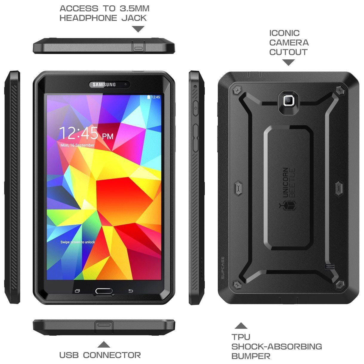 Genuine SUPCASE Full-body Heavy Duty Case Cover for Samsung Galaxy Tab 4, 8.0""