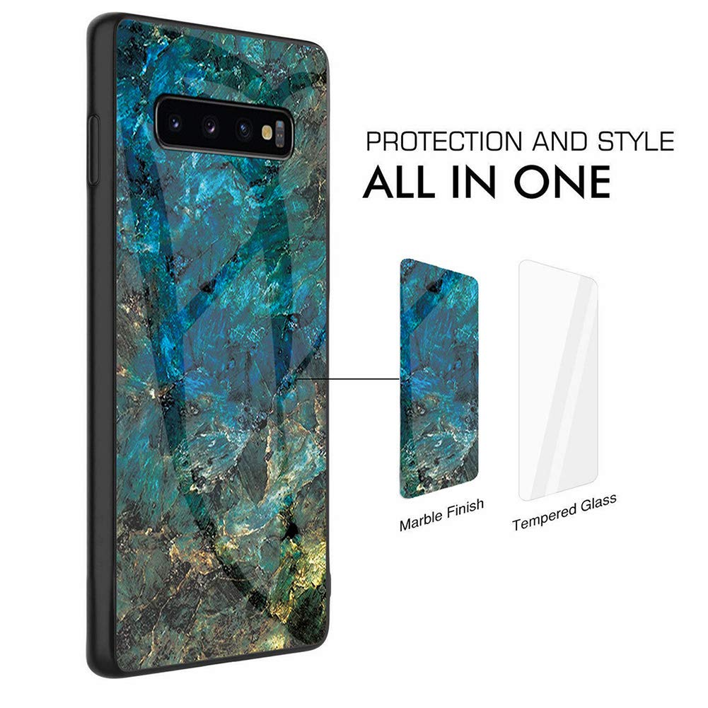 Samsung Galaxy S8 Case Glass Heavy Duty Shockproof Slim Cover