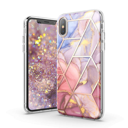 iPhone 11 Case TITISHARK Clear Marble Shockproof Bumper Hybrid Cover