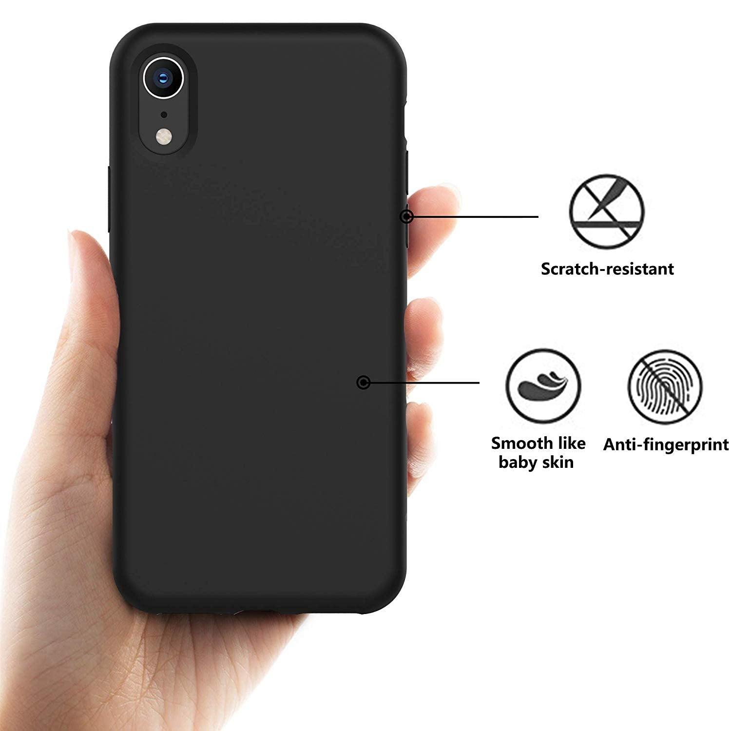 iPhone XS MAX Thin Soft Silicone Case Cover