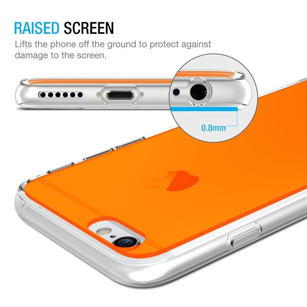 Slim Bumper Case Cover with Florescent Back Panel For Apple iPhone 6 6s Plus