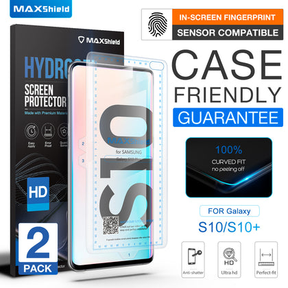 2x CASE FRIENDLY HYDROGEL Film Screen Protector for Samsung Galaxy S10 Plus