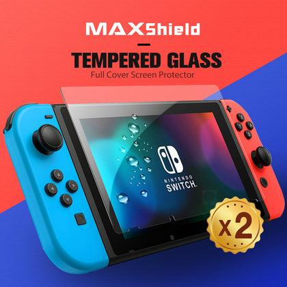 For Nintendo Switch/Lite Screen Protector MAXSHIELD 9H Full Cover Tempered Glass