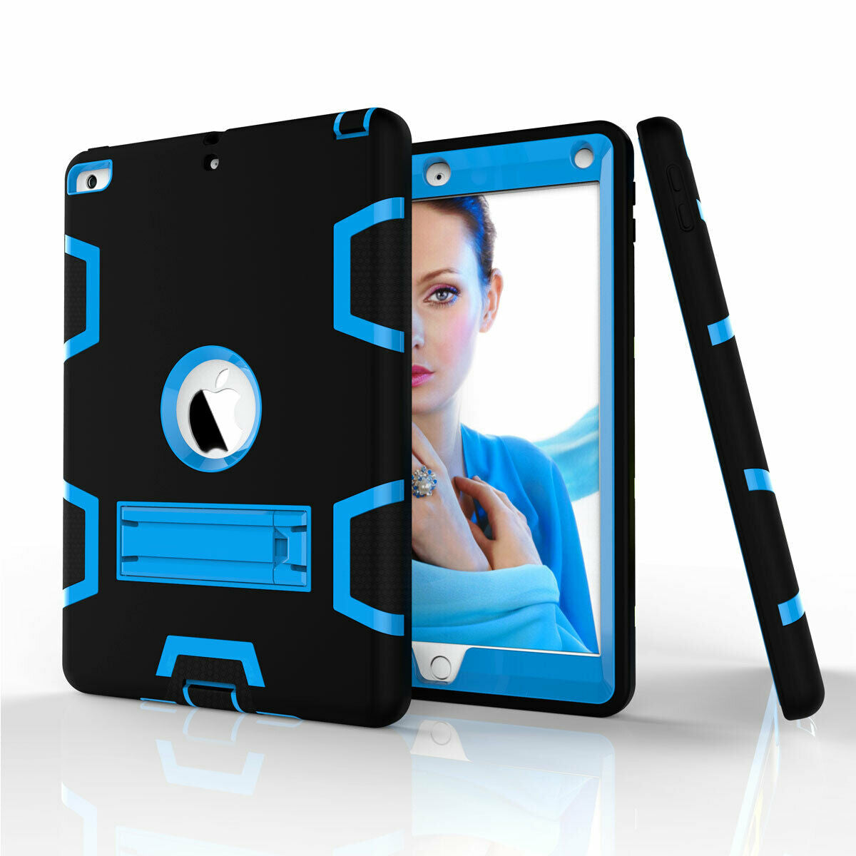 For iPad Air 2 Shockproof Military Stand Heavy Duty Case Cover