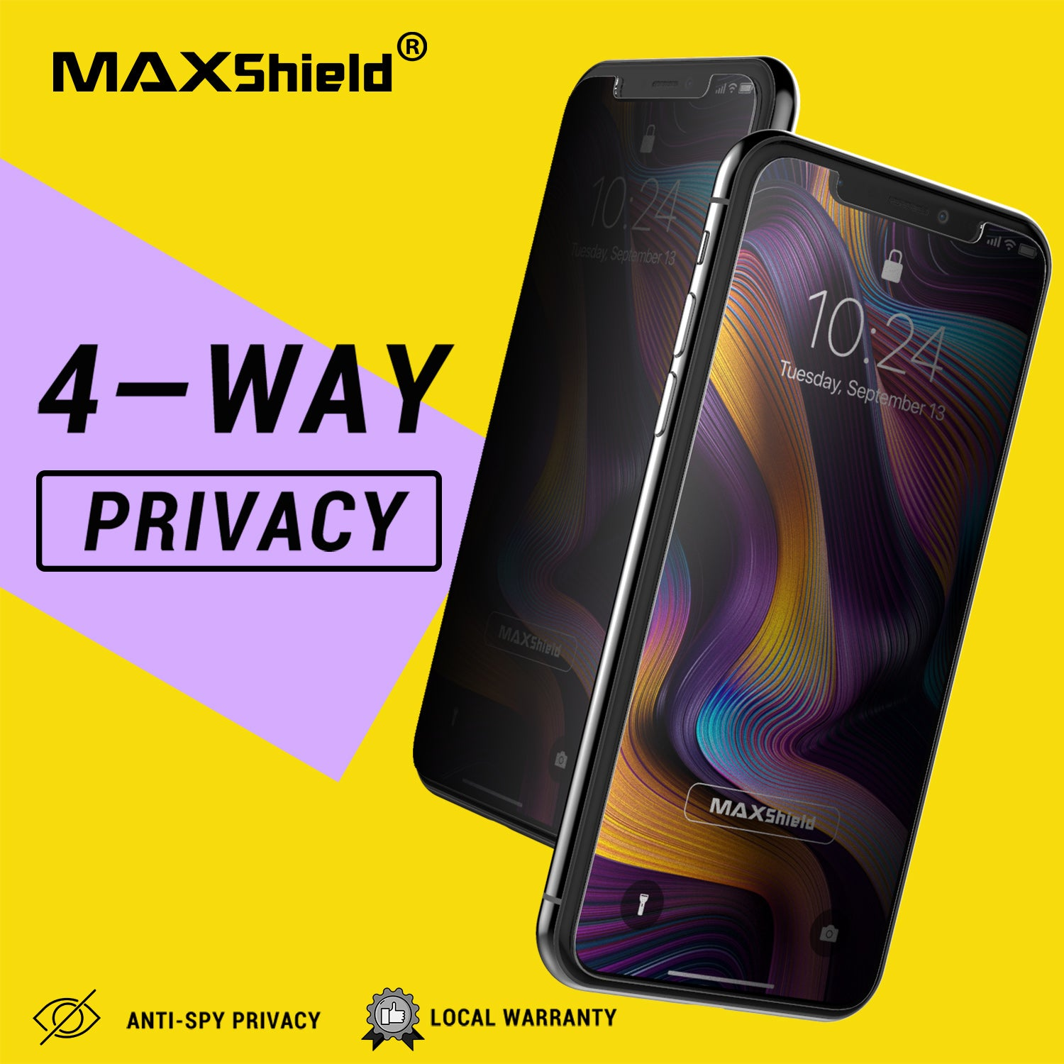 ANTI-SPY PRIVACY TEMPERED GLASS SCREEN PROTECTOR FOR Apple iPhone XI 11 Pro Max