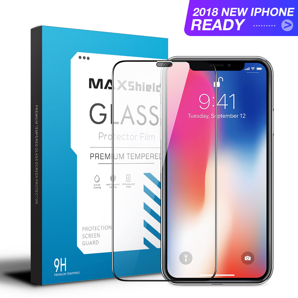 iPhone XS MAX Plus Full Coverage Tempered Glass Screen Protector