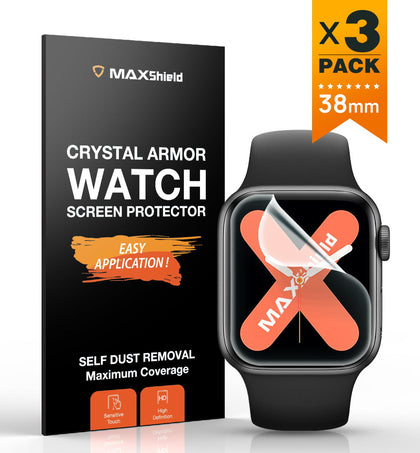 MaxShield Screen Protector for Apple Watch Series 2/3/4 38mm Full Cover iWatch