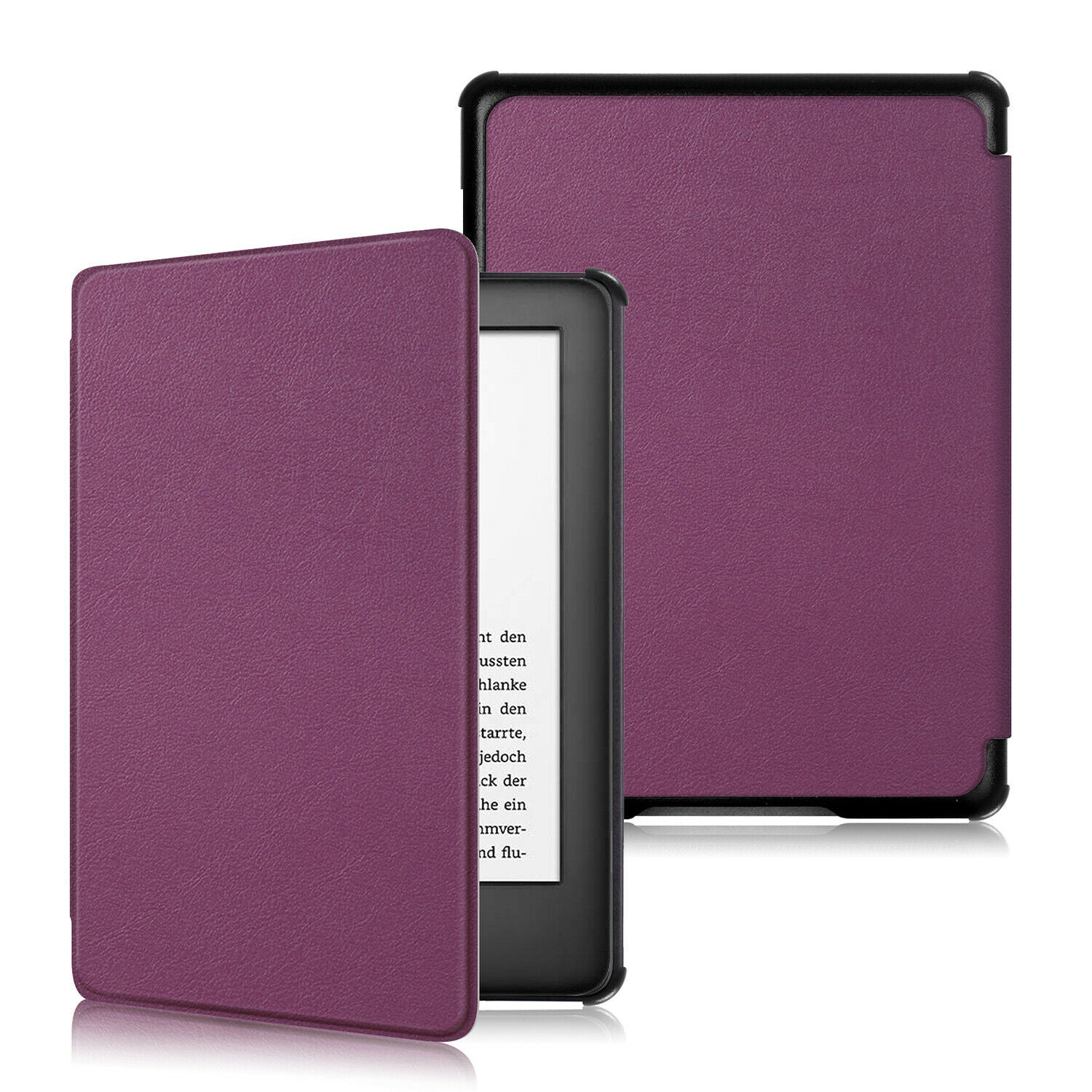 "New Amazon Kindle 2019 10th 6"" Inch Case Smart Flip Leather Back Slim Cover-Wine Red"