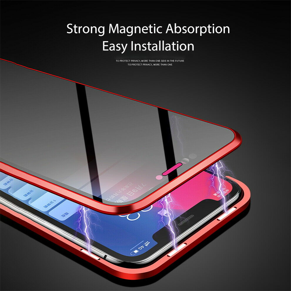 Anti Peep Magnetic Phone Case Double Glass Cover iPhone 11 Pro