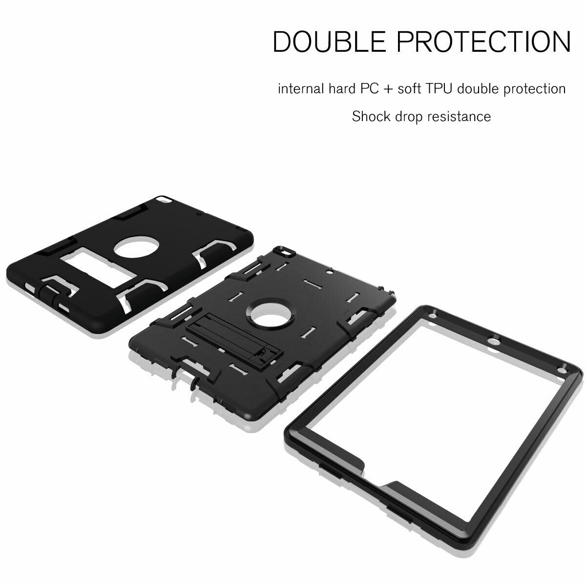 For iPad 5th 9.7'' 2017 Shockproof Military Stand Heavy Duty Case Cover