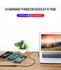 3 in 1 90 Degree Lightning USB Charger Charging Cable Cord For iPhone-Black