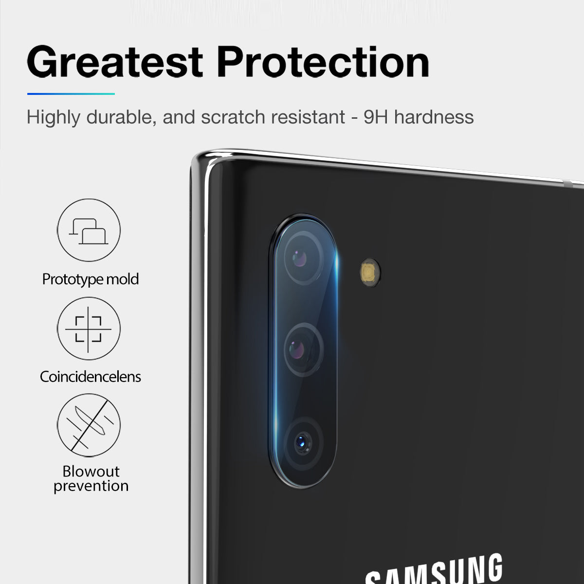 Samsung Galaxy Note 10 Plus 5G Maxshield Back Camera Lens Tempered Glass Protector