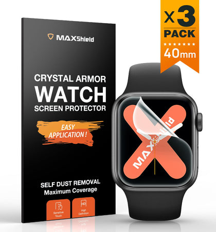 MaxShield Screen Protector for Apple Watch Series 4/5 40mm Full Cover iWatch