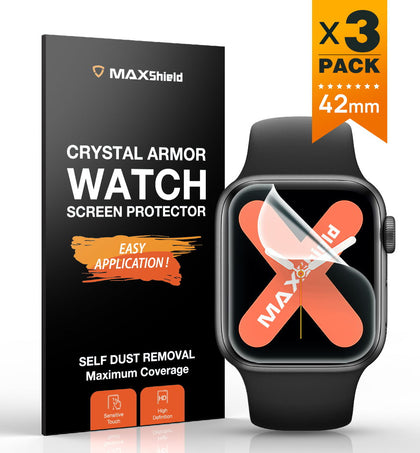 MaxShield Screen Protector for Apple Watch Series 2/3 42mm Full Cover iWatch
