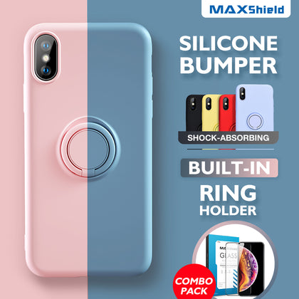 iPhone 8 Plus Thin Soft Silicone Ring Holder Case Cover