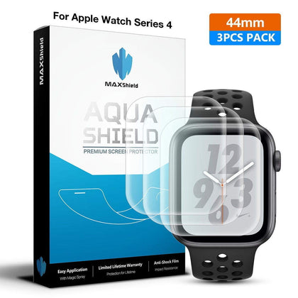 Genuine MaxShield HD Crystal Screen Protector for Apple Watch Series 5 44mm iWatch