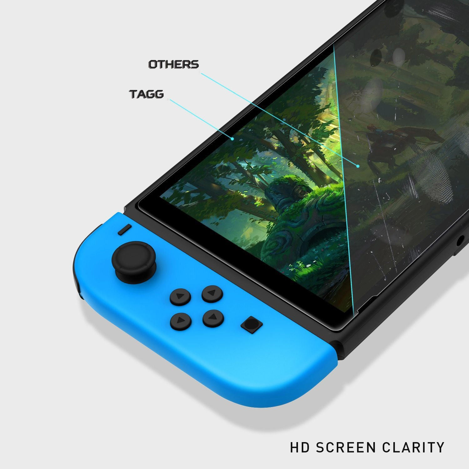 TAGG Nintendo Switch Tempered Glass Screen Protector for Nintendo Switch [ 2Pcs Package ]
