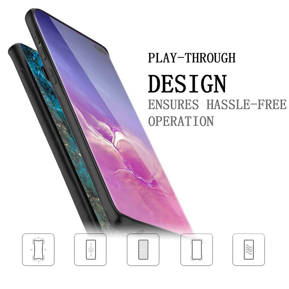 Samsung Galaxy S10 E Case Glass Heavy Duty Shockproof Slim Cover