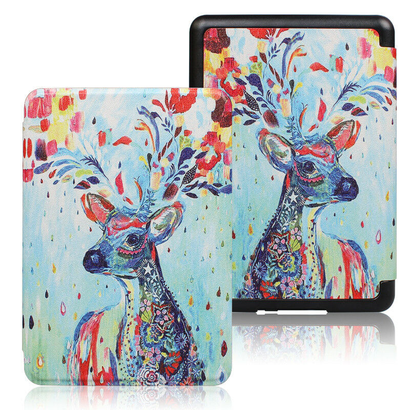 Premium Quality Colorful Painting Leather Cover for Amazon Kindle Paperwhite 10th Generation-2018  -ColorfulDeer