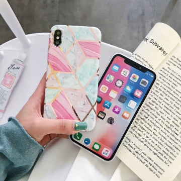 iPhone XS MAX Case Shockproof Tough Marble Soft Cover for Apple