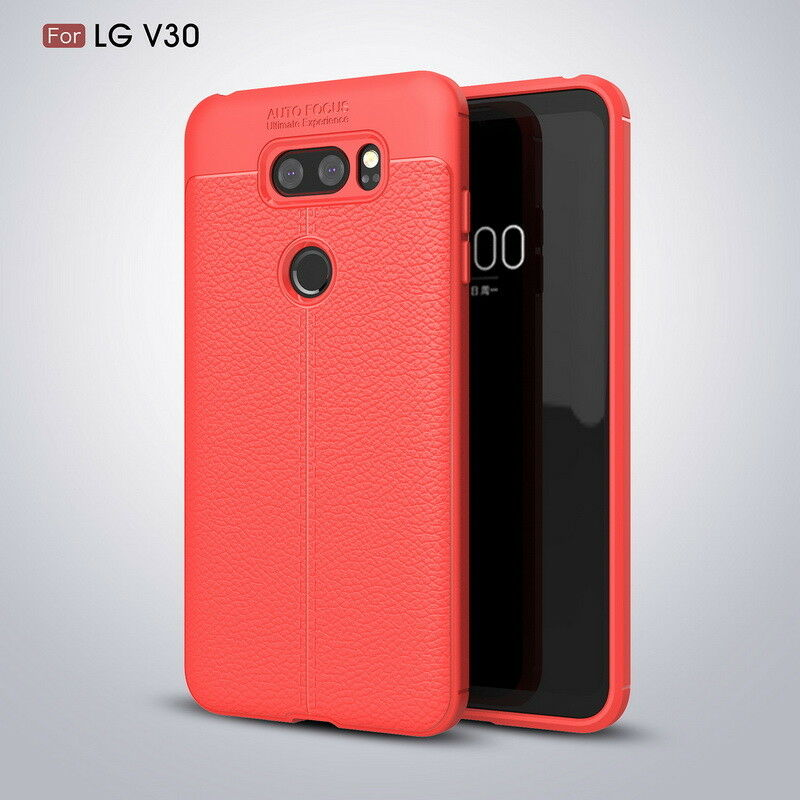 For LG G7 Shockproof Leather Skin Soft Rubber TPU Phone Case Cover