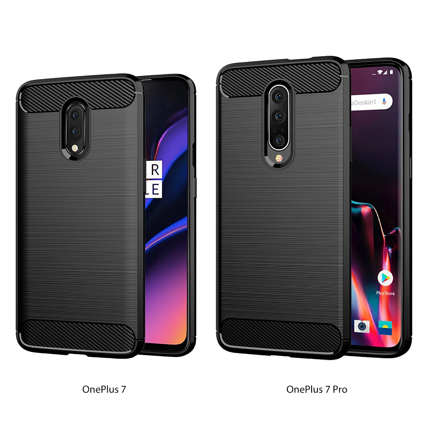 Oneplus 7 Case , Slim-Fit HEAVY DUTY Bumper Case Cover