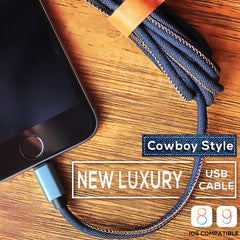 Cowboy Style Apple Lightning Type C USB-C to Male USB Data Cable Charger Adapter