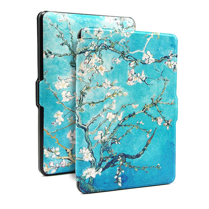 Premium Quality Colorful Painting Leather Cover for Amazon Kindle Voyage - Blossom
