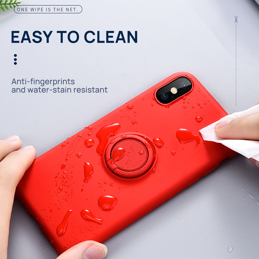 iPhone X Thin Soft Silicone Ring Holder Case Cover