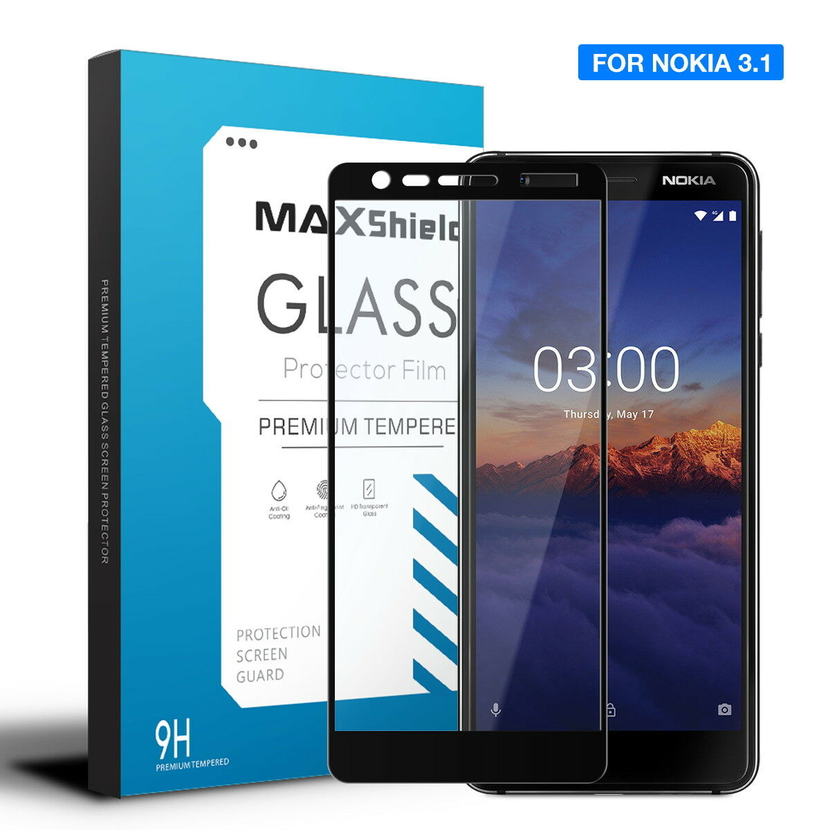 For Nokia 6.2 Full Coverage Tempered Glass Screen Protector