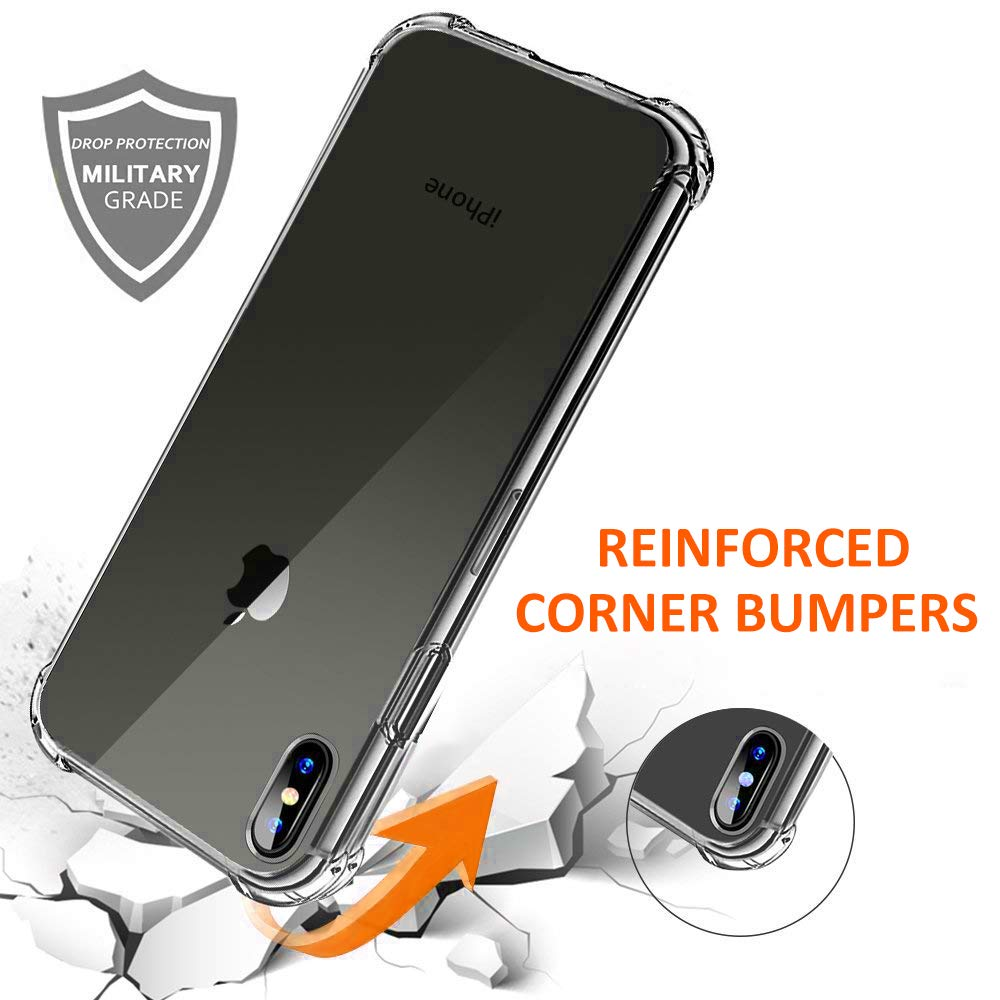 Clear Case For iPhone XS Max Shockproof Silicone Protective
