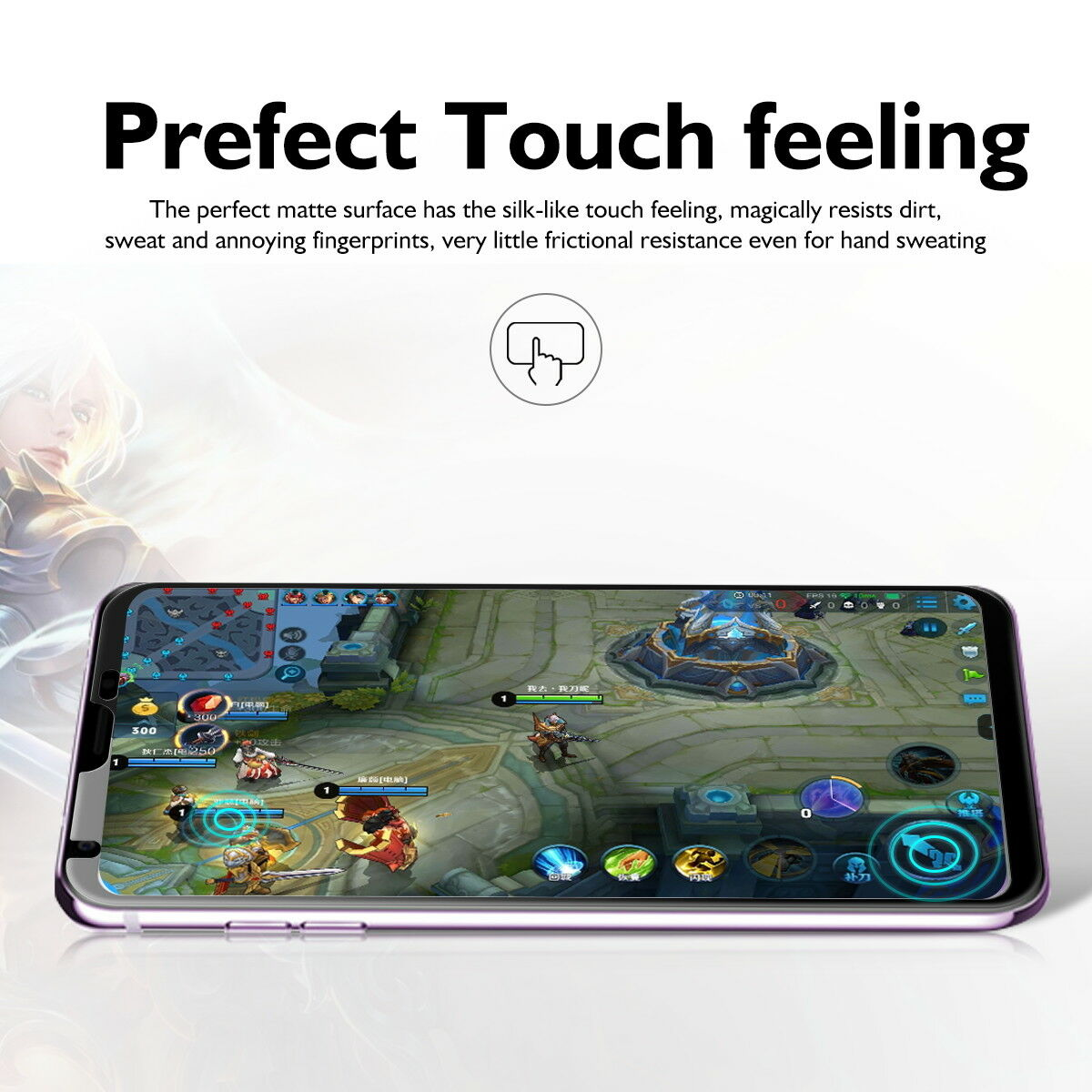 LG Q60 MAXSHIELD Full Coverage Tempered Glass Screen Protector