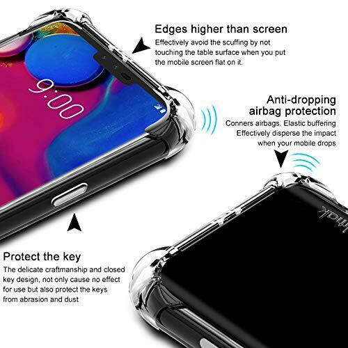 For LG Q60 Clear Case Heavy Duty Bumper Shockproof Cover