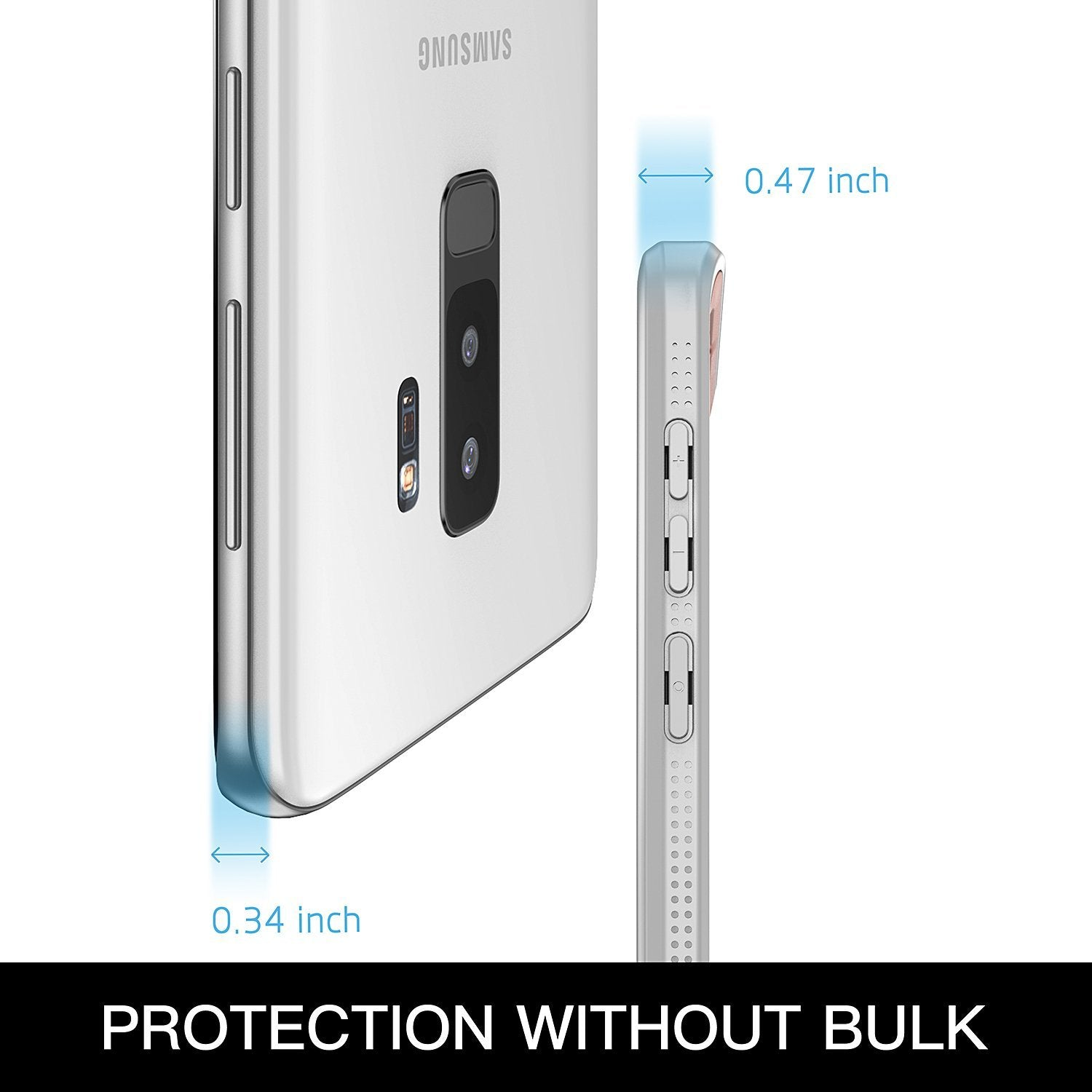 YOUMAKER Samsung Galaxy S9 Plus Crystal Clear Shockproof Full-body Case Cover