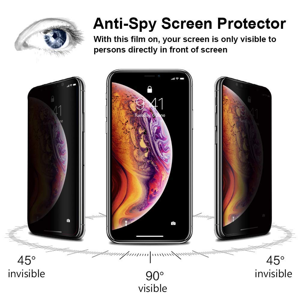 ANTI-SPY PRIVACY TEMPERED GLASS SCREEN PROTECTOR FOR Apple iPhone XI 11