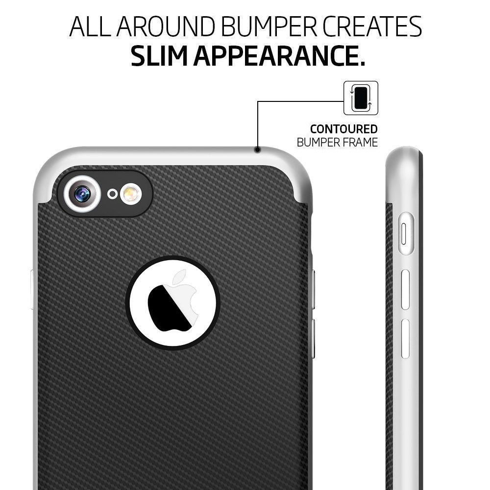 Genuine TAGGSHIELD Slim Shield For iPhone 7 iPhone 7 Plus (Silver)